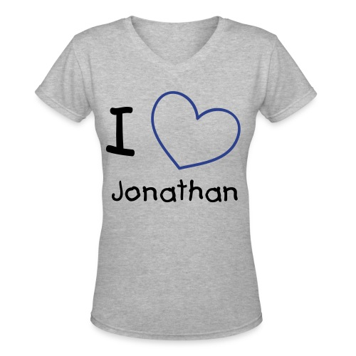 I Heart Jonathan V-Neck - Women's V-Neck T-Shirt