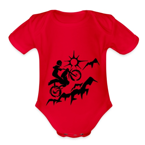 MOTORCYCLE - Organic Short Sleeve Baby Bodysuit