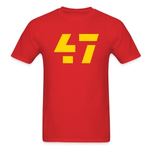 47 Men's Standard Weight Tee Red - Men's T-Shirt