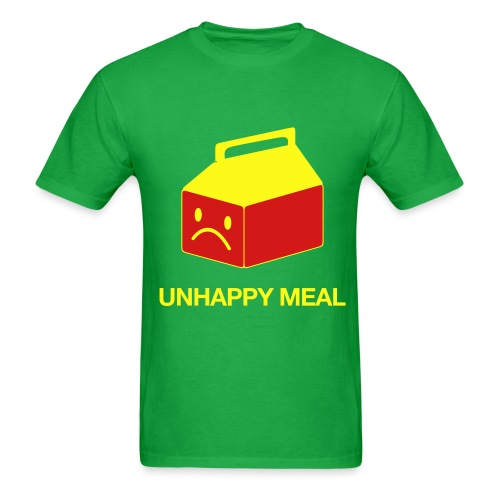Unhappy Meal Green T-Shirt - Men's T-Shirt