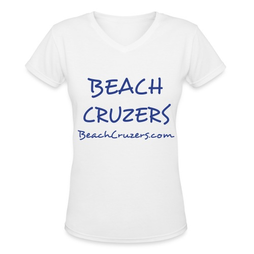 Beach Cruzers Chick V-Neck - Women's V-Neck T-Shirt