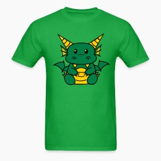 Bright green Chibi Dragon T-Shirts