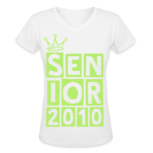 SENIOR BLOCKS - Women's V-Neck T-Shirt