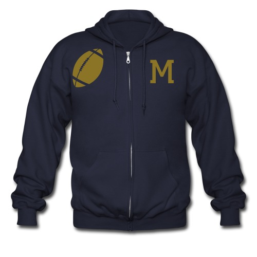PERSONALIZED PICTURE BUTTON - Men's Zip Hoodie
