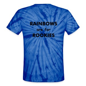 Unisex RAINBOWS for Rookies - Unisex Tie Dye T-Shirt