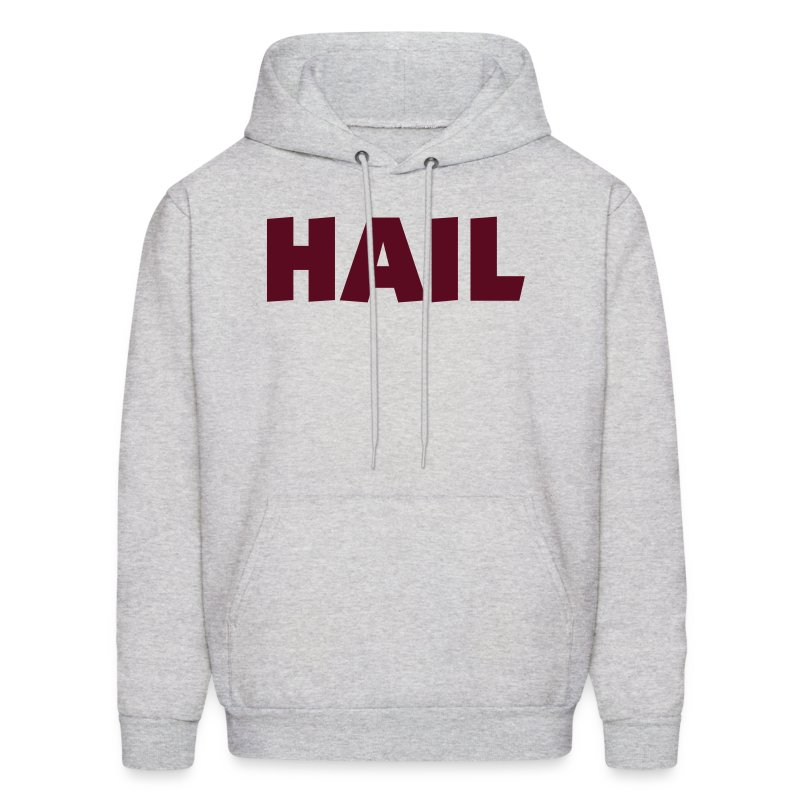 Mens Hooded Hail Sweatshirt- Ash - Men's Hoodie