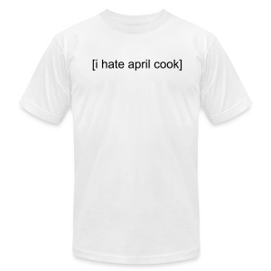 [I Hate April Cook] Slim-fit Guys White T-shirt - Men's Fine Jersey T-Shirt