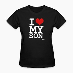Black i love my son by wam Women's T-Shirts