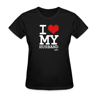 Black i love my husband by wam Women's T-Shirts