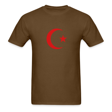 Brown Crescent and Star T-Shirts