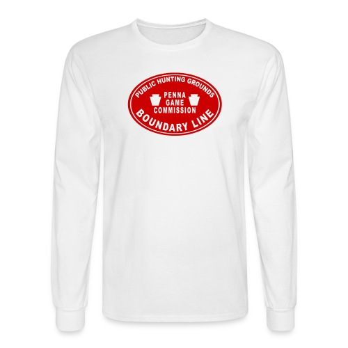 PA State Game Lands Boundary - Men's Long Sleeve T-Shirt