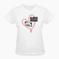 White i_love_music Women's T-Shirts