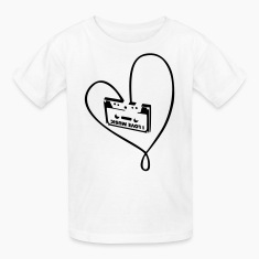 White i_love_music_a Kids' Shirts