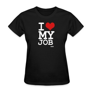 Black i love my job by wam Women's T-Shirts - Women's T-Shirt