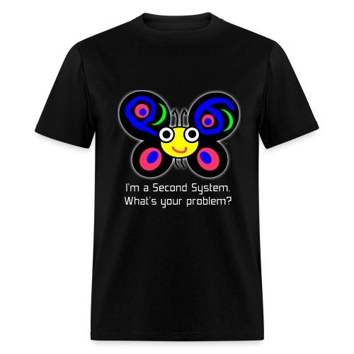 Second System - Men's dark t-shirt - Men's T-Shirt