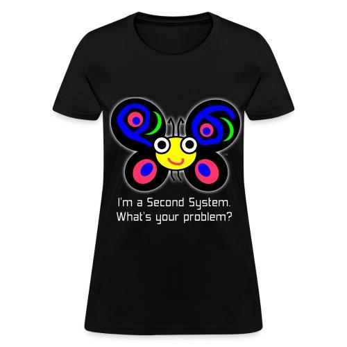 Second System - Women's dark t-shirt - Women's T-Shirt