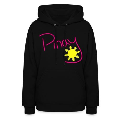 Pinay hoodie- Pink Letters - Women's Hoodie