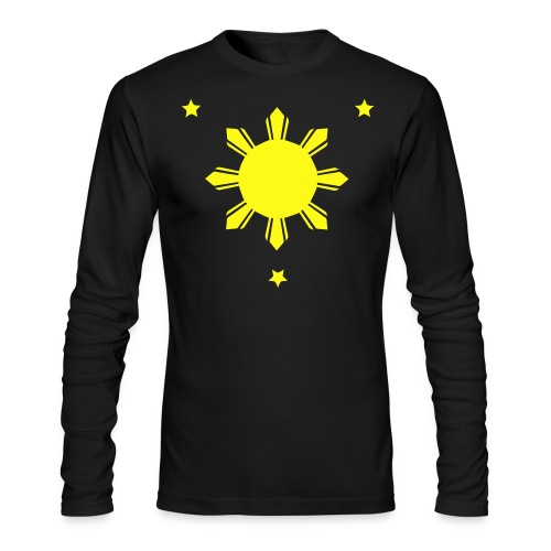 Philippines Sun and Stars Long Sleeved Shirt - Men's Long Sleeve T-Shirt by Next Level