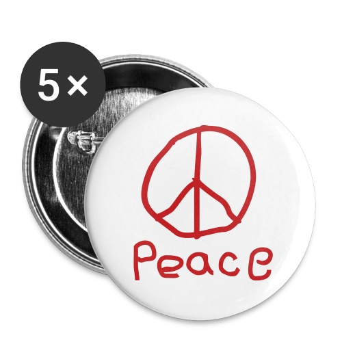 Peace Red - Large Buttons