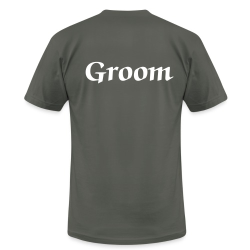 groom grey and white - Men's  Jersey T-Shirt