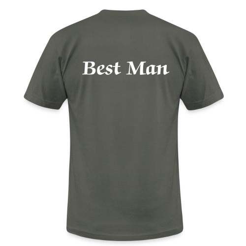 best man grey and white - Men's  Jersey T-Shirt
