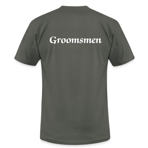 groomsmen grey and white - Men's Fine Jersey T-Shirt