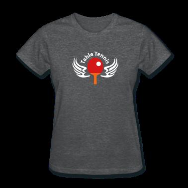 Deep heather table_tennis_3c_blanko Women's T-Shirts