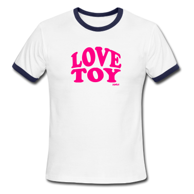 White/navy love toy by wam T-Shirts