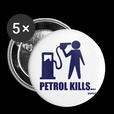 White petrol kills by wam Buttons
