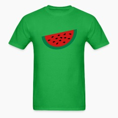 Bright green Large Watermelon Slice T-Shirts