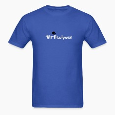 Royal blue Mr Newlywed T-Shirts
