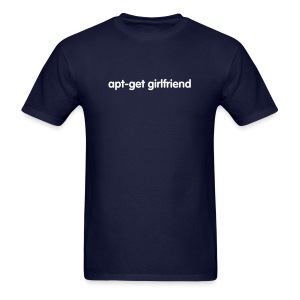 apt-get girlfriend (on Dark) - Men's T-Shirt