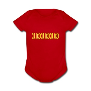 BINARY 42 One size - Short Sleeve Baby Bodysuit