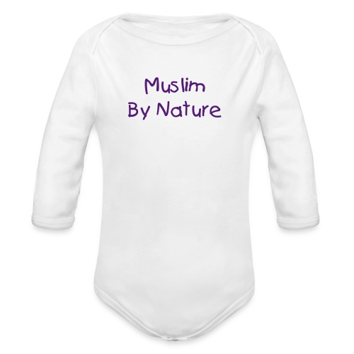 MuslimByNature One-Size - Organic Long Sleeve Baby Bodysuit