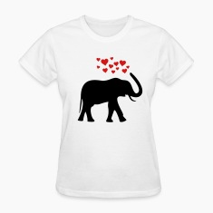 White herzefant2 Women's T-Shirts
