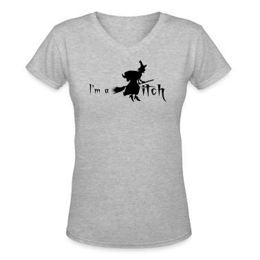 Gray I'M A WITCH Women's T-Shirts