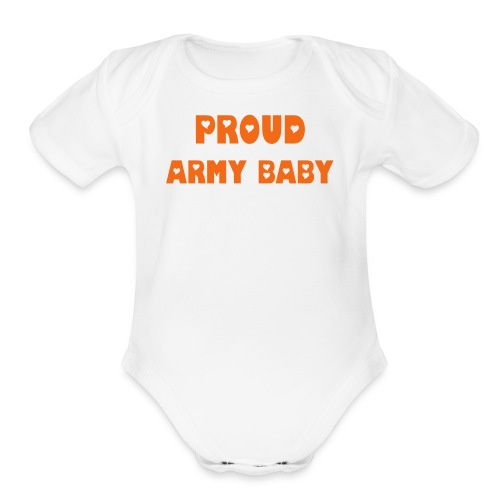 ARMY BABY ONE PIECE PRINT BOTH SIDES - Organic Short Sleeve Baby Bodysuit