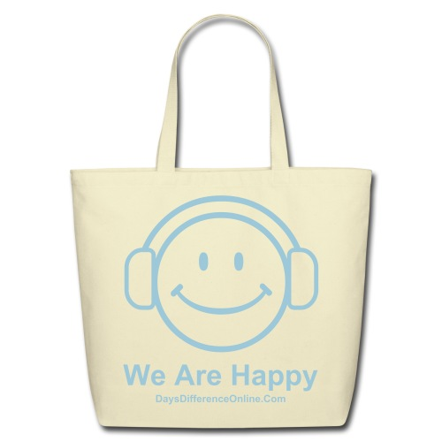 We Are Happy Tote - Eco-Friendly Cotton Tote