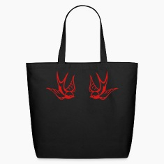 Black Tattoo birds Bags
