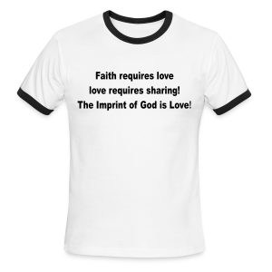 The imprint of God is Love - Men's Ringer T-Shirt