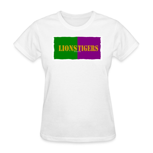 on sale 1668e a469f Lions Tigers Southeastern LSU Split Fan Tee | Women's T-Shirt
