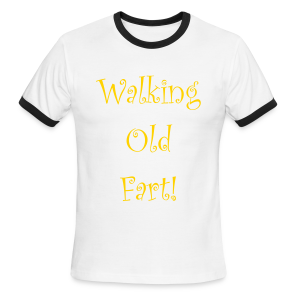 Walking Old Fart - Men's Ringer T-Shirt