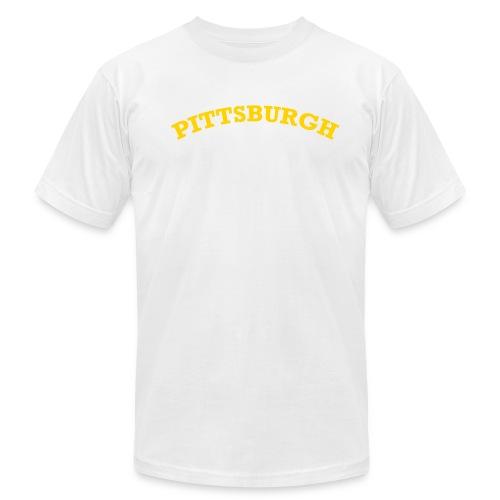 burg wht.gld men - Men's Fine Jersey T-Shirt