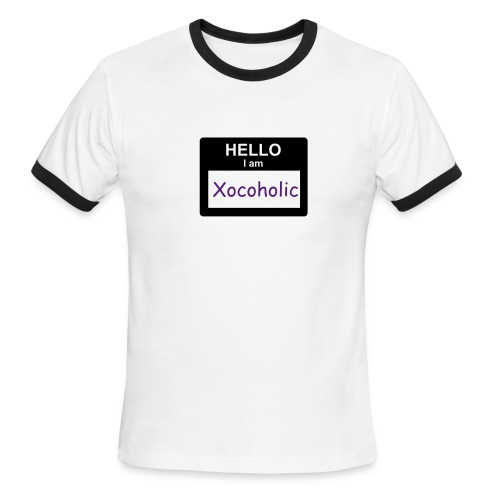 Hello, I'm Xocoholic T [HELLO-01] - Men's Ringer T-Shirt
