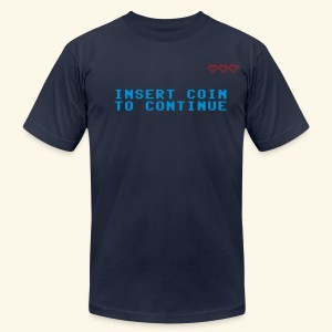 Insert Coin to Continue - Men's T-Shirt by American Apparel