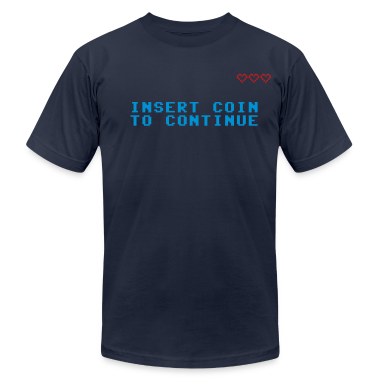 Navy Insert Coin to Continue T-Shirts