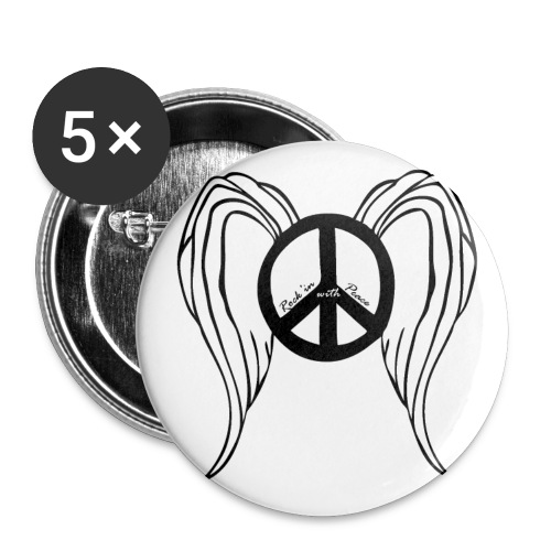 peace angel button - Large Buttons