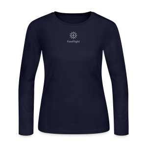 Ladie's ForeFlight Long-Sleeve Tee - Navy - Women's Long Sleeve Jersey T-Shirt