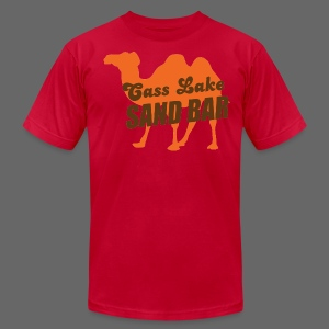 Cass Lake Sand Bar Men's American Apparel Tee - Men's T-Shirt by American Apparel