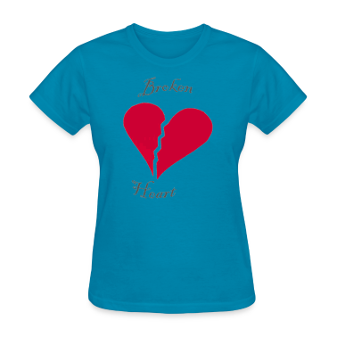 Light blue broken heart Women's T-Shirts